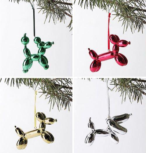 Christmas Tree Decorations For Dogs : Balloon animal christmas ornaments art jeff koons