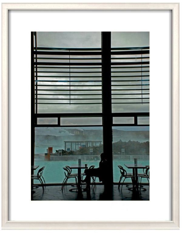 SURREAL Image looking through a window at the #BLUELAGOON #Reykjavík  #Iceland . Colours are            natural and untouched.