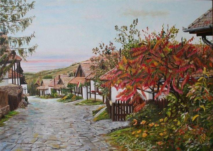 Hollókő Koncz Csaba magyar festő (1947-)