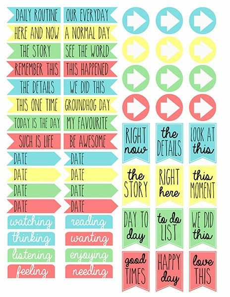 {Free} Printable Tabs 2 from Scraps of Five. They're for project life but would work perfect for my planner