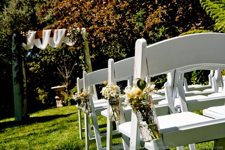 Ceremony at Chateau Dore with Archway by Pretty Little Details