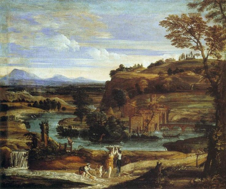 Paisaje de Dominico Zampieri  quien fue un pintor barroco italiano