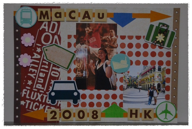 scrapbook for my holiday in Macau 2008