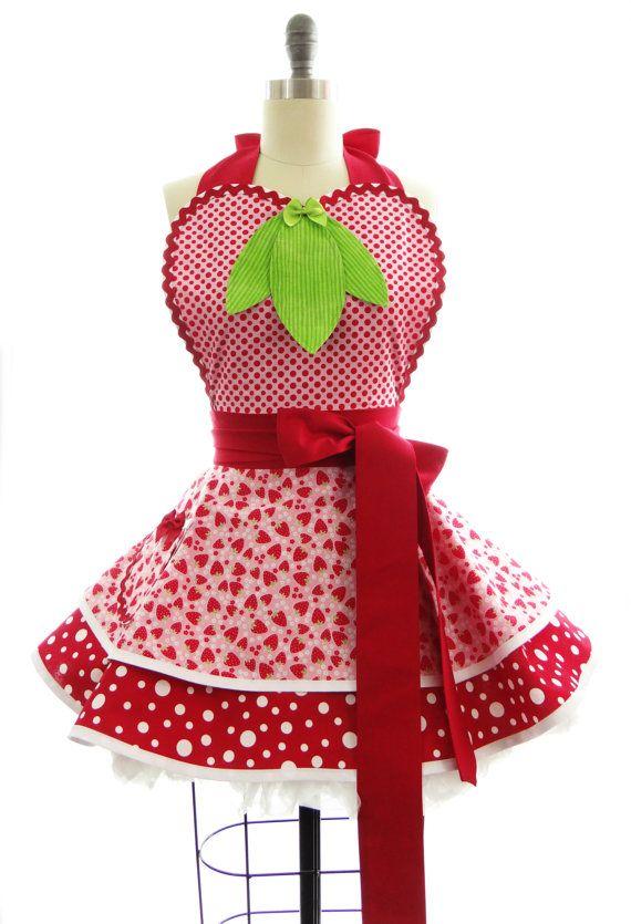 Costume de shortcake aux fraises adulte
