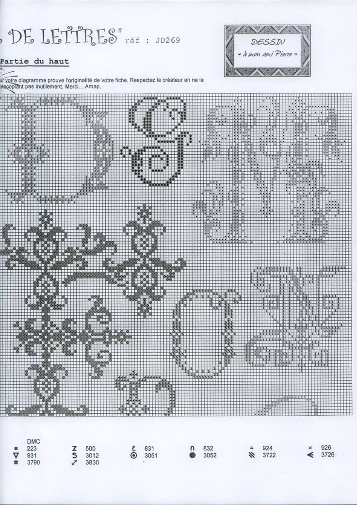 Heritage Letters Sampler • 3/5 Upper RHS Corner