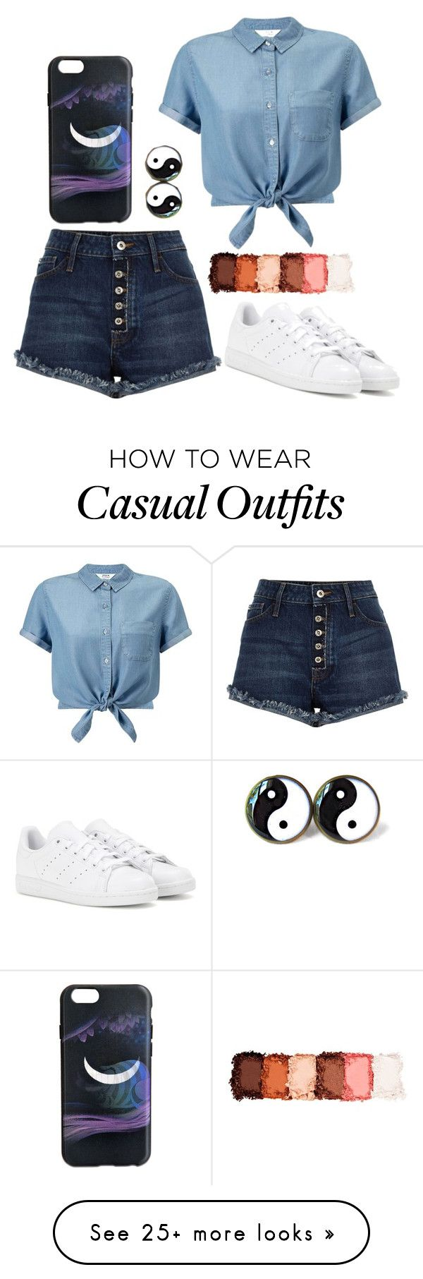 """""""Casual"""" by maimaijeon on Polyvore featuring Miss Selfridge, Marc by Marc Jacobs, adidas and NYX"""