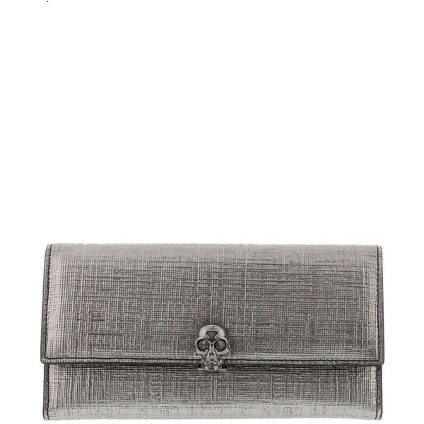Continental Wallet (3.185 DKK) ❤ liked on Polyvore featuring bags, wallets, gun metal, womenaccessorieswallets, white leather wallet, continental wallet, real leather bags, real leather wallets and genuine leather bag