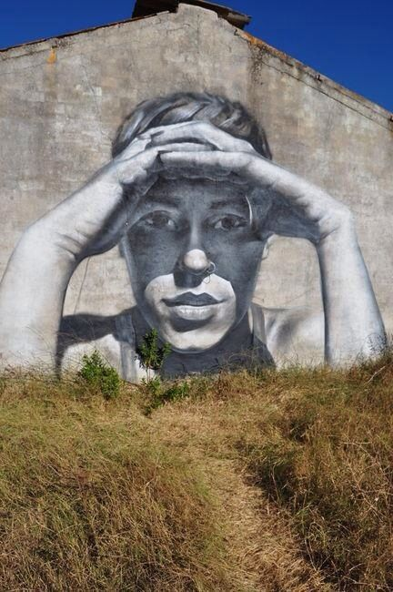 Urban artist Mesa in Barcelona, Spain