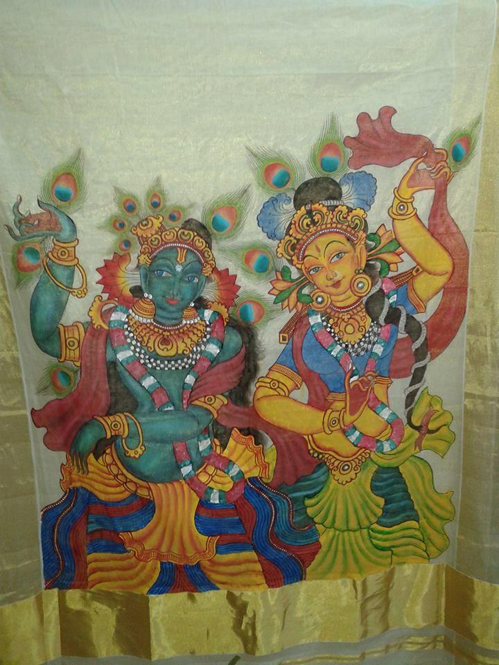 14 best lalita tripura sundari maa images on pinterest for Aithihya mural painting fabrics