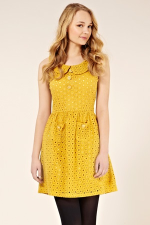 Polly lace dress | 45.00 from Oasis: Style, Colors Silhouette, Nice Colors, Yellow Dress