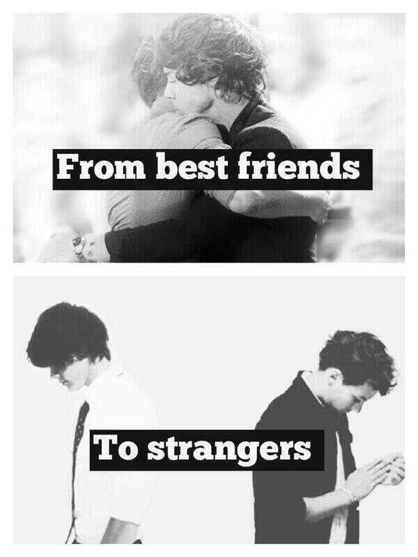 They are being distant. They can't hug each other like brothers do, because someone has to go all Larry again