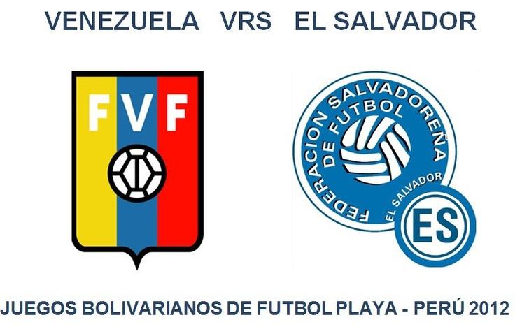 Queremos enviar un saludo a todos nuestros amigos de Venezuela y El Salvador que hoy se enfrentan en unos de los patidos de futbol playa en los juegos Bolivarianos. ¡Suerte para ambos!
