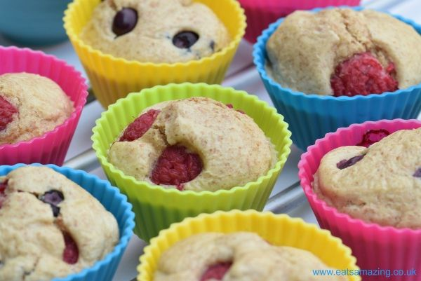 Delicious and healthy pancake muffins recipe - a new way to serve up pancakes for pancake day! Dairy free and a super easy recipe for kids to cook!