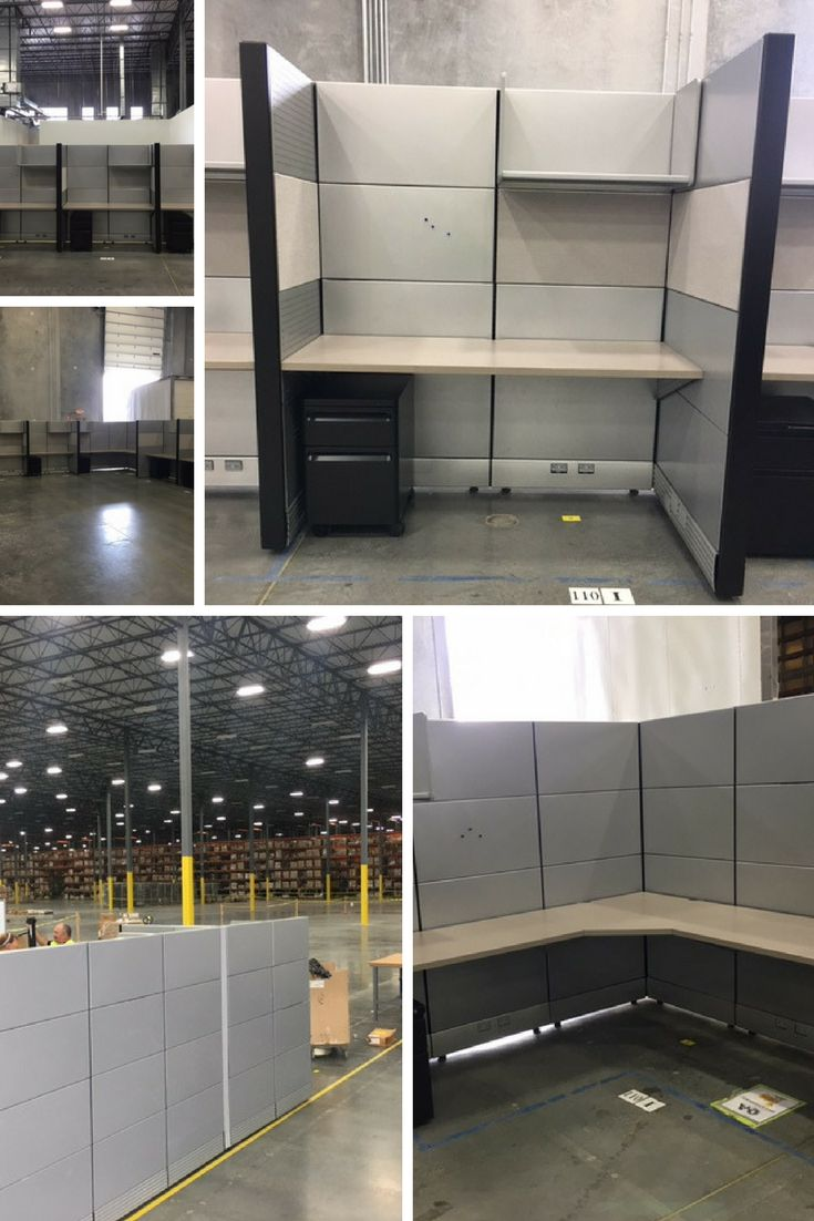 Herman Miller Ethospace Cubicles With Grey Tiles In Metal U0026 Fabric. Client  Was A Huge Warehouse Wanting Tall Office Dividers Or High Walls For The  Quality ...