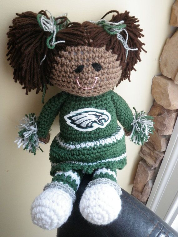 Philadelphia Eagles Cheerleader Doll by OlsenTrademarkCrafts