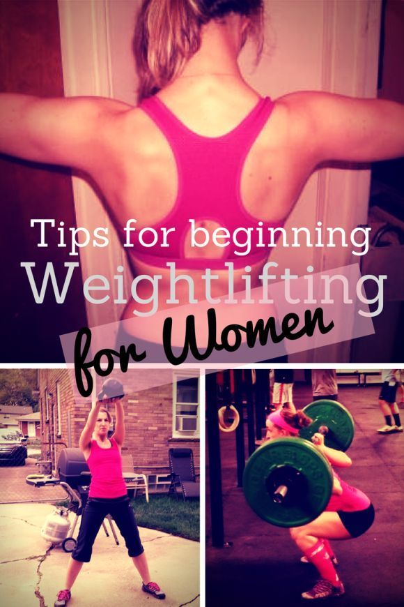Tips for beginning weight lifting for women