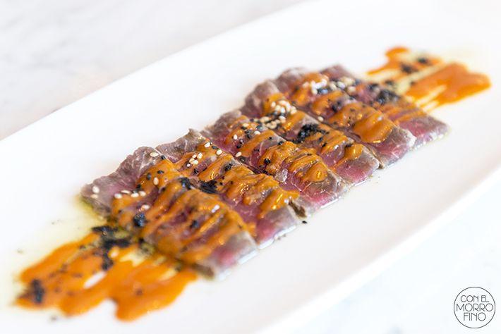 OribuTataki de presa ibérica con salsa de mojo picón