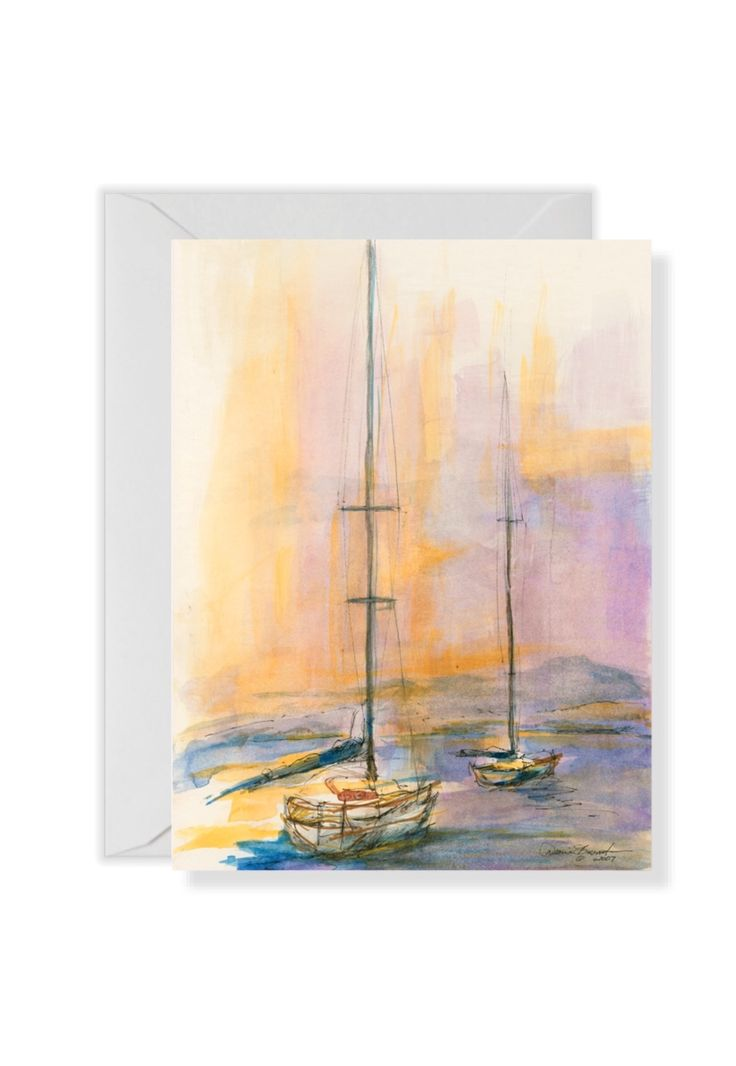 Sailboats at Sunset Santa Barbara DianeBronstein.com