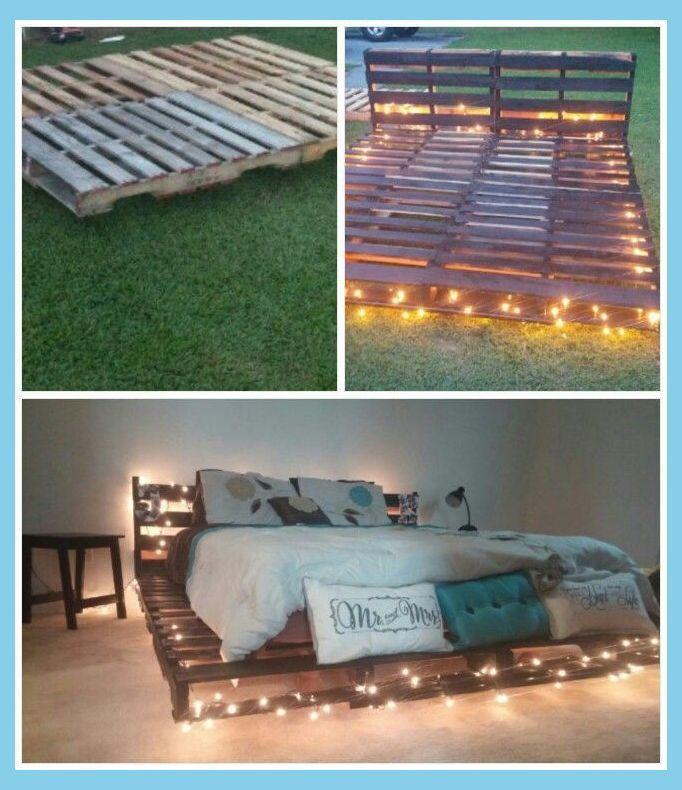 Diy Bedroom Furniture Diy Bed Frame Ideas With Images Pallet
