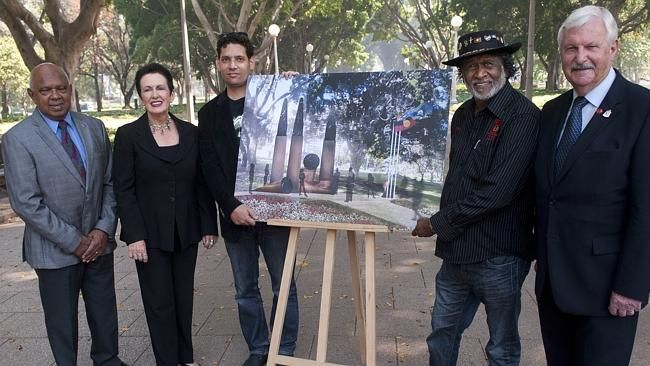 The artwork was commissioned at a ceremony in Hyde Park on November 8, 2013.