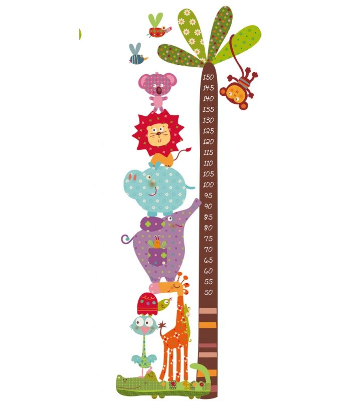 10 ideas sobre tabla de estatura en pinterest regla de - Dibujos para paredes de bebes ...