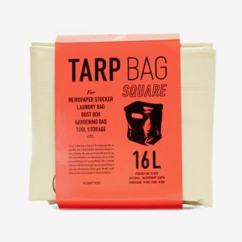 Hightide Ivory Square Tarp Bag: Compact waterproof tarp square that folds out into a handy laundry or storage bag. This Square Tarp Bag from Hightide can hold 16-litre load.