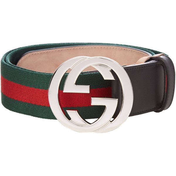 Gucci GG-buckle Web-canvas belt ($360) ❤ liked on Polyvore featuring men's fashion, men's accessories, men's belts, mens leather belts, mens genuine leather belts, gucci mens belt and mens leather accessories