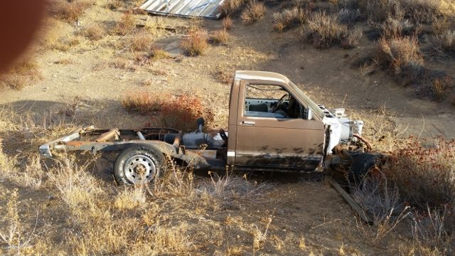 Donor 1985 Chevy S10 for 1953 AD with Explorer rear end and 4BT Cummins motor with a NV4500 5 speed manual trans.