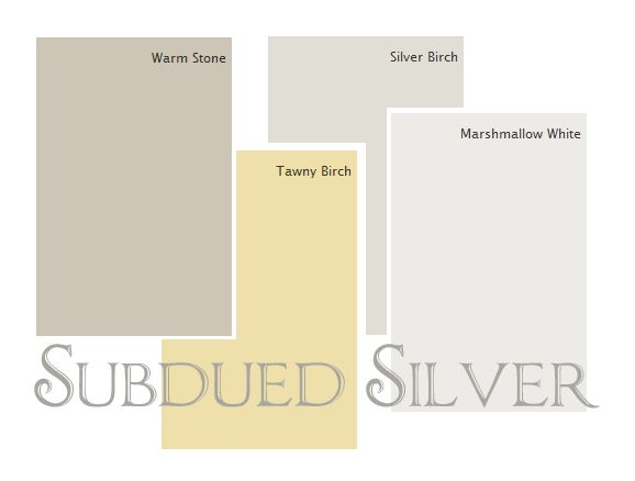 A subdued barely there silver palette from diane henkler for Soft warm grey paint colours