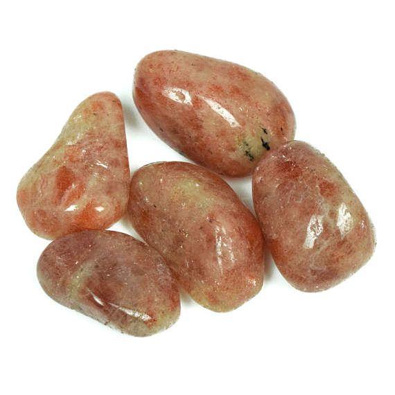 Sunstone Tumblestone  Medium Natural Real Orange Sun Stone