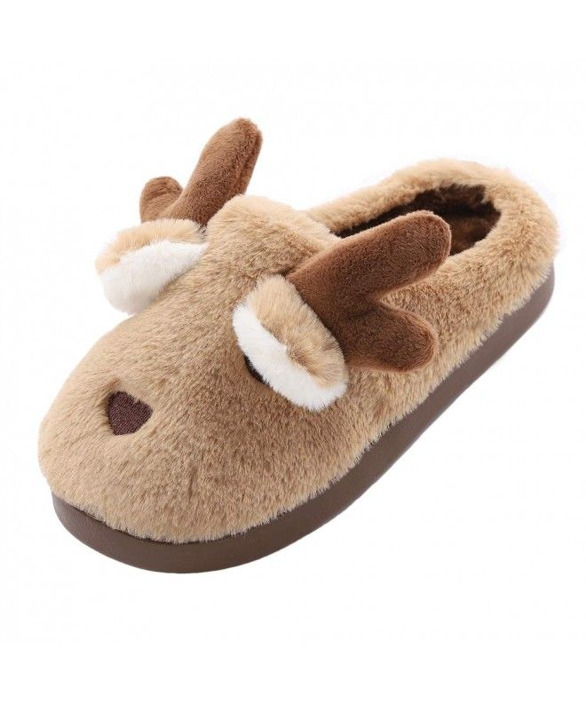 Women Plush Slippers Winter Fleece Warm Fashion Indoor Home Soft Flat Shoes Gift