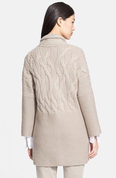Fabiana Filippi Cable Cashmere Sweater Coat | Nordstrom