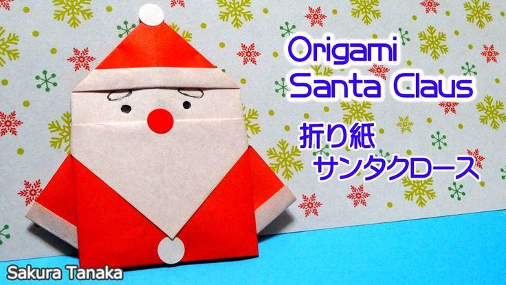 Origami Santa Claus/ 折り紙 サンタクロース 折り方 - YouTube