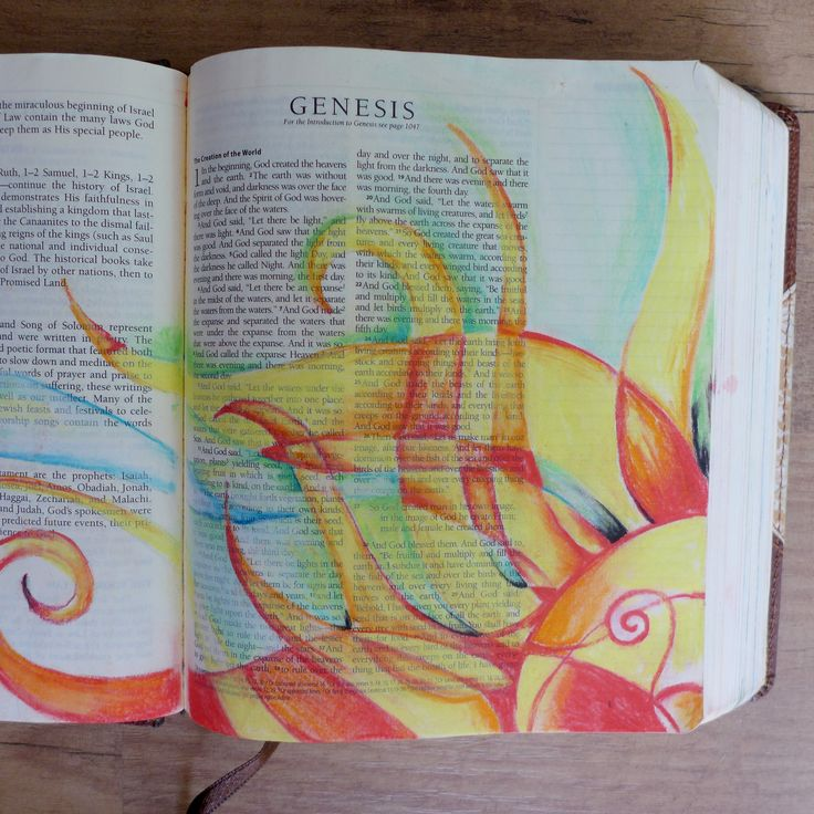 #illustratedfaith #biblejournal Genesis by @kaylamakesart