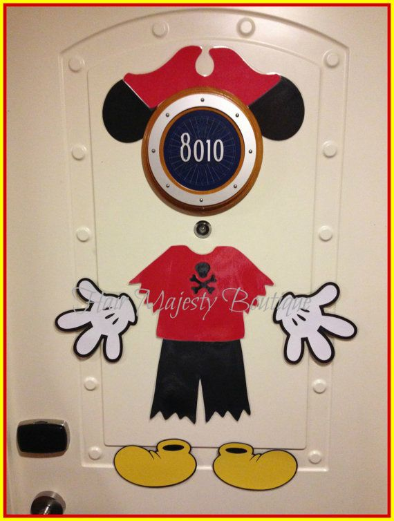 Pirate Mickey Body Part Cruise Door Magnet by HairMajestyBoutique
