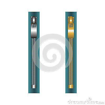 #metallic and #golden #zips on cloth