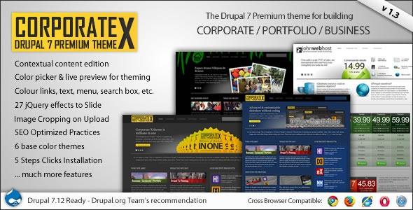 Corporate X Drupal Theme