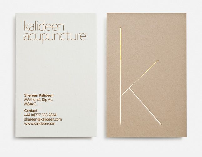 Kalideen Acupuncture Business Cards by Magpie Studio