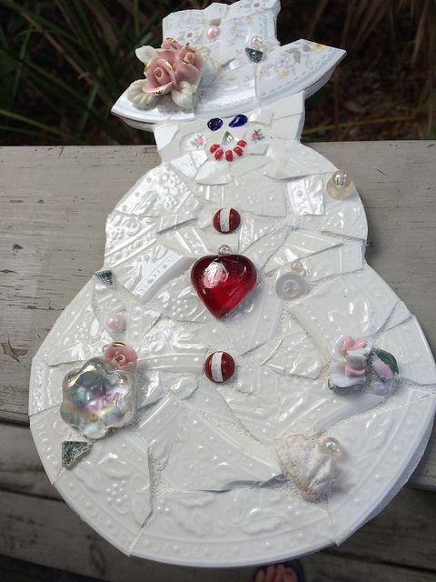 Ms Rosie - Mosaic Snow Lady | Flickr - By Katie Waller
