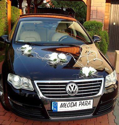 Deko Auto Schmuck Braut Paar Rose Deko Dekoration Hochzeit Autoschmuck Herzen