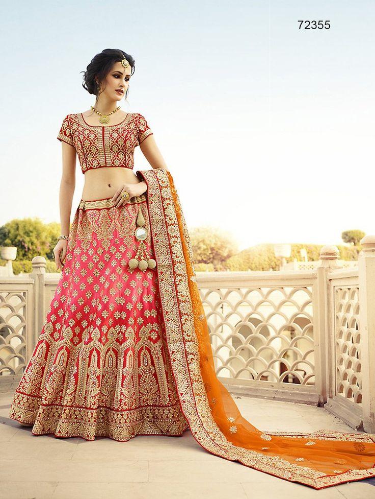 Buy Lehenga, lehenga choli, lehenga wedding, lehenga designs : Outstanding pink…