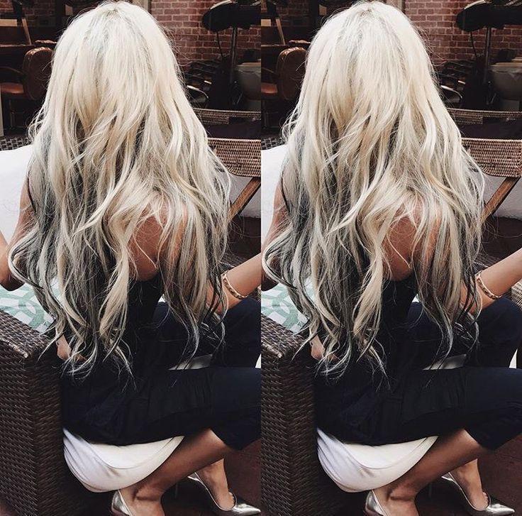 Pin By Chelsea Sullivan On Beauty Dark Hair With Highlights Platinum Blonde Highlights Hair Highlights