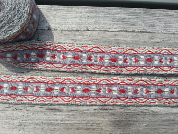 Tablet weaving, card woven trim, pure wool