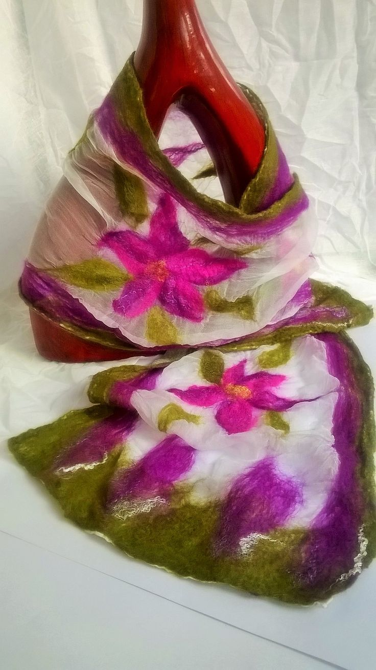 nuno felted scarf made by Jayne www.facebook.com/flowerfeltbyjayne