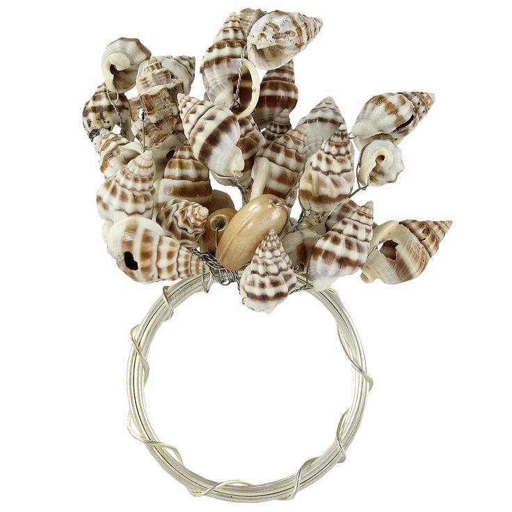 "Elegant ""shelly"" napkin rings 🐚🌊"