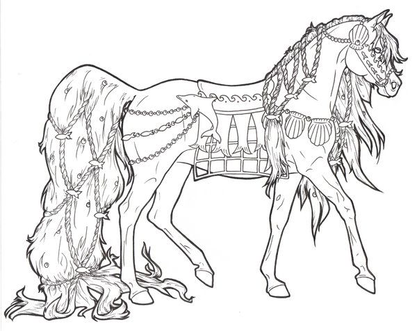 horses printable coloring pages