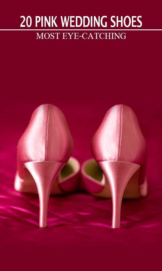 be8ab0fbd 20 Most Eye-catching Pink Wedding Shoes. Sexy Pink Wedding Shoe Ideas
