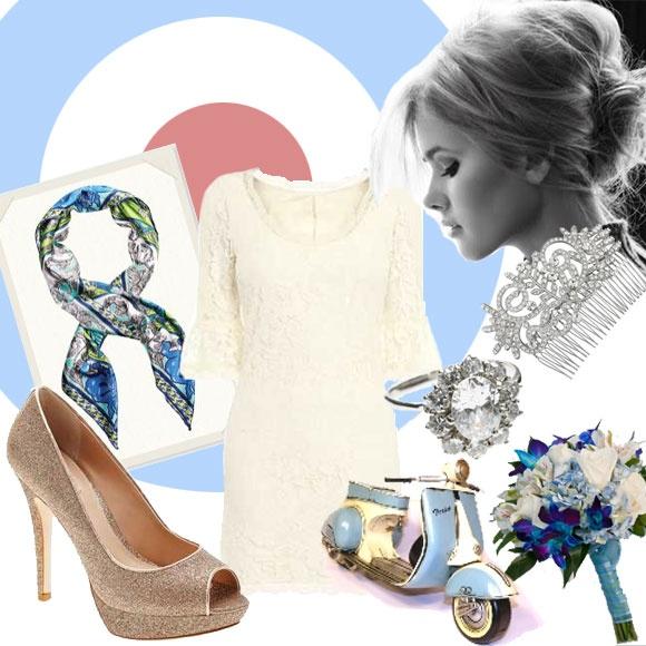 60s Mod Bride style using Next high street fashion