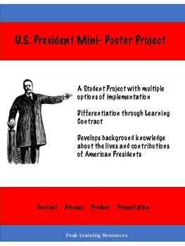 U.S. President Mini-Poster Project Students Contract for Grade Gallery Walk Presentation Format