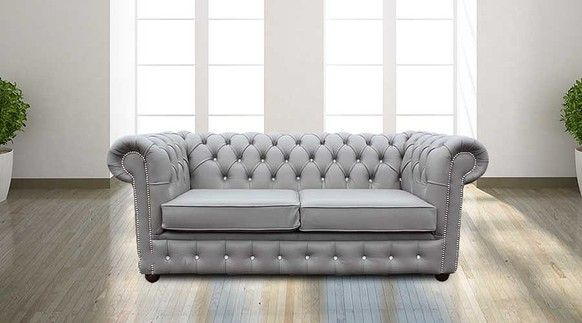 Pin By Sofacouchs On Bedroom Sofa Grey Leather Sofa White Leather Sofa Set Chesterfield Sofa